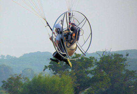 how a paramotor works and flies