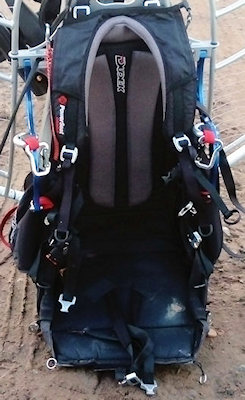 how a paramotor works harness seat