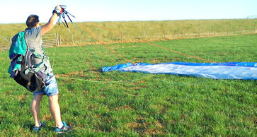 how to launch a paramotor forward launching