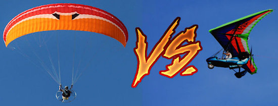 paramotor vs ultralight aircraft flying