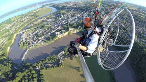 what is paramotoring like cross country