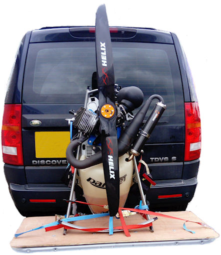 paramotor towbar mounted carry-rack
