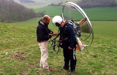 paramotor training skyschool UK solo