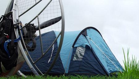 paramotor camping fly