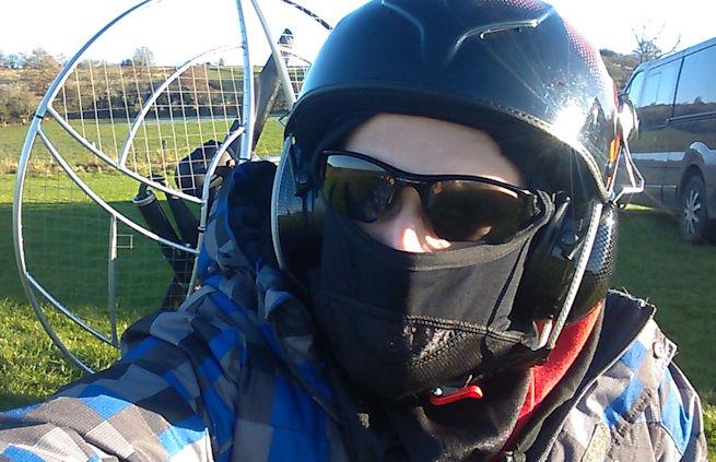 paramotor planet airfield selfie