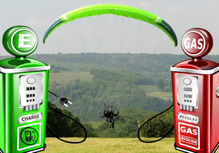 electric paramotor vs gas paramotor