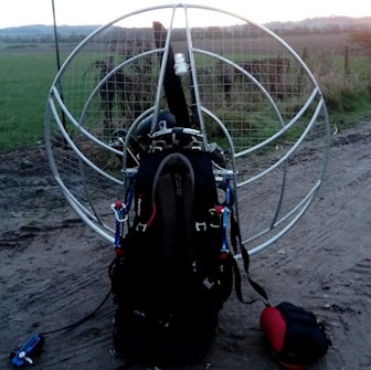 paramotor strobe light micro avionics fitted