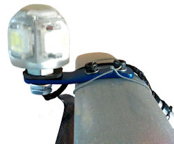 paramotor strobe light skyflar fitting