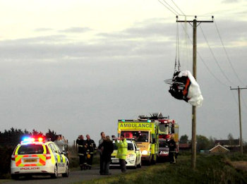 paramotoring accident power lines