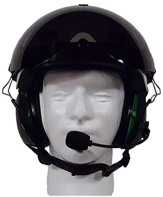bluetooth paramotor helmet front