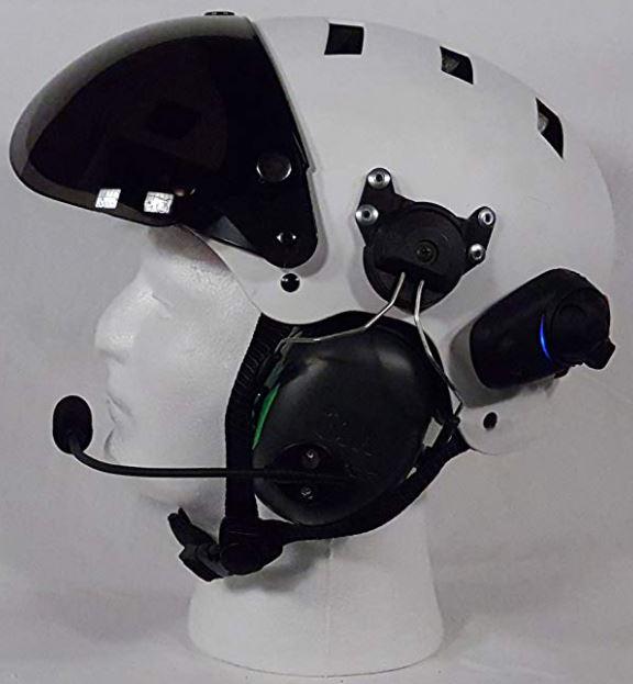 bluetooth paramotor helmet
