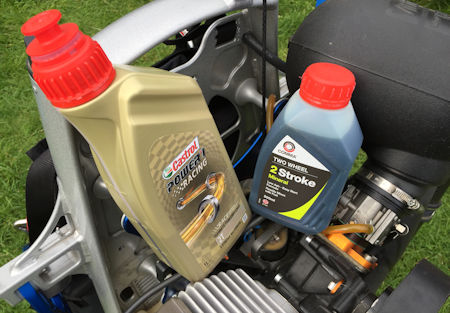 cheap 2 stroke oil vs expensive oil for paramotoring