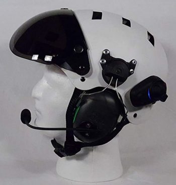 paramotor helmet with communications