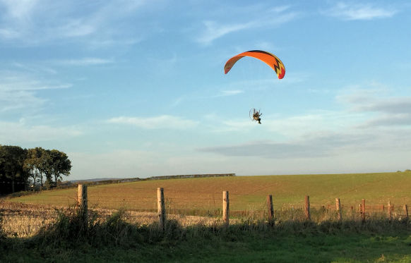 Paramotor cross country flying