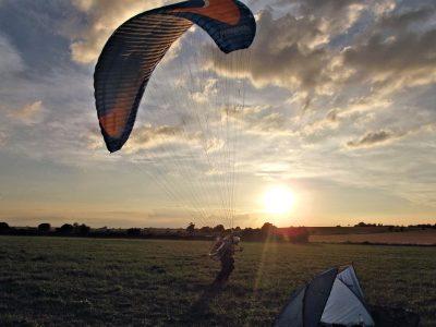 paramotor camping expedition