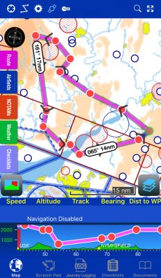paramotor cross country app
