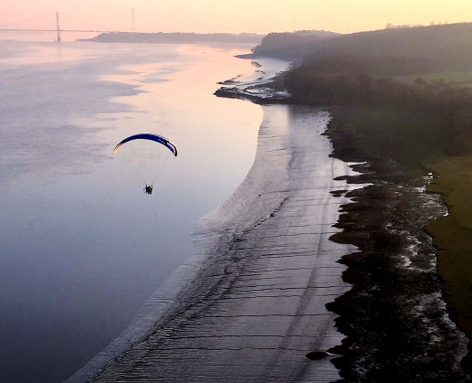 paramotor over water
