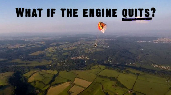 Paramotor engine failure