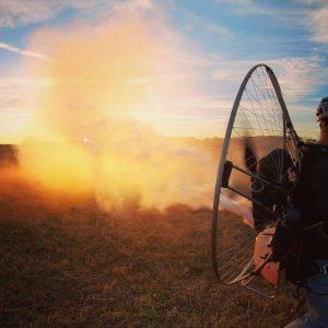 paramotor smoke system